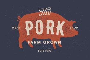 Pig, Pork - Vintage by foxysgraphic