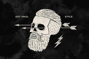 Poster of Vintage Skull Hipster by foxysgraphic