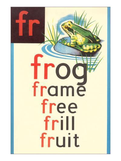 FR for Frog--Art Print