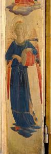 Angel Beating a Drum, Detail from the Linaivoli Triptych, 1433 (Tempera on Panel) by Fra Angelico