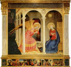 Annunciation, 1425 by Fra Angelico