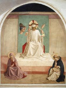 Christ Mocked in the Presence of the Virgin and Saint Dominic by Fra Angelico