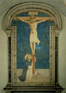 Christ on the Cross Adored by St. Dominic by Fra Angelico