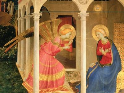 Cortona Altarpiece with the Annunciation, without predellas by Fra Angelico
