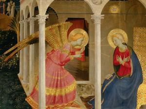Cortona Altarpiece with the Annunciation by Fra Angelico