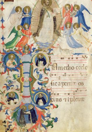 Depicting St. Dominic and an Historiated Initial 'I' from a Gradual Book from San Marco e Cenacoli