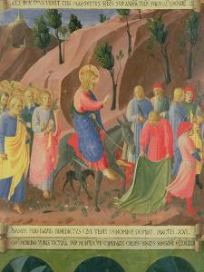 Entry of Christ into Jerusalem, Detail from Panel Three by Fra Angelico