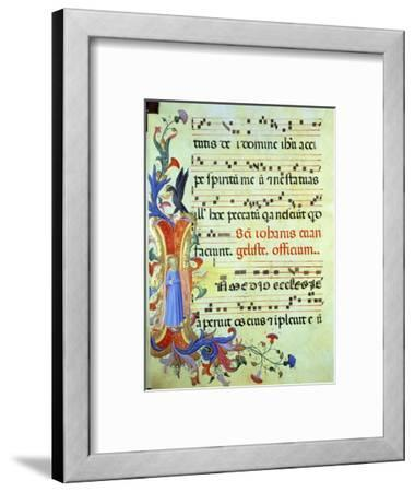 "Historiated Initial ""I"" Depicting St. John the Evangelist"