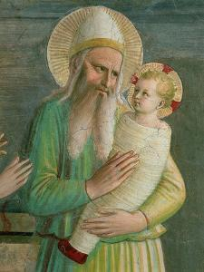 Simeon with the Christ Child, Detail from the Presentation in the Temple, 1442 by Fra Angelico