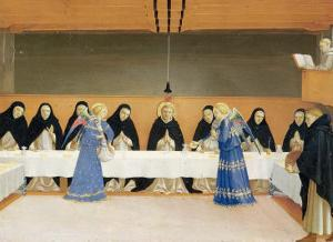 St. Dominic and His Companions Fed by Angels by Fra Angelico