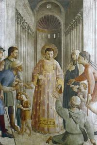 St Laurence Giving Alms to the Poor, Mid 15th Century by Fra Angelico