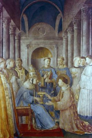 St Sixtus II and His Deacon St Laurence, Mid 15th Century by Fra Angelico