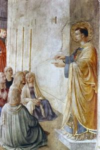 St Stephen Preaching (Detail), Mid 15th Century by Fra Angelico