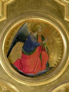 The Angel of the Annunciation, Altarpiece, Church of San Domenico in Perugia by Fra Angelico