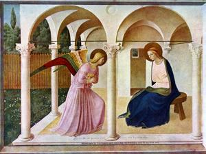 The Annunciation, C1438-1445, (C1900-192) by Fra Angelico