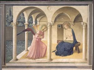 The Annunciation, circa 1438-45 by Fra Angelico