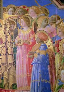 The Coronation of the Virgin, Detail Showing Musical Angels, circa 1430-32 by Fra Angelico