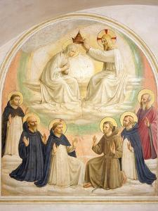 The Coronation of the Virgin, with Saints by Fra Angelico