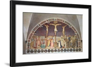 The Crucifixion, with SS. Cosmas, Damian, Francis and Bernard, 1442