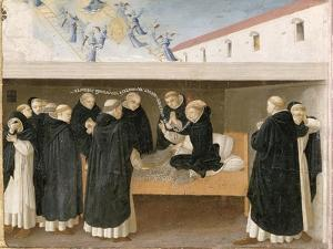 The Death of St. Dominic, from the Predella Panel of the Coronation of the Virgin, c.1430-32 by Fra Angelico
