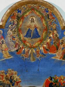 The Last Judgement, Christ in His Glory, Surrounded by Angels and Saints, Fresco (Around 1436) by Fra Angelico