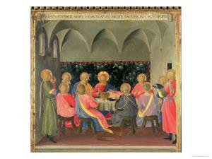 The Last Supper, Detail of Panel Three of the Silver Treasury of Santissima Annunziata, c. 1450-53 by Fra Angelico