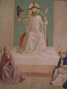 The Mocking of Christ with the Virgin and St. Dominic, 1442 by Fra Angelico