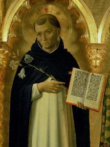 The Perugia Altarpiece, Side Panel Depicting St. Dominic, 1437 (Detail) by Fra Angelico