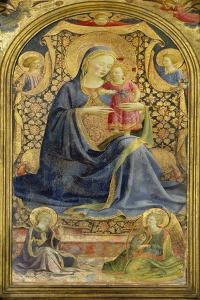 Virgin and Child Enthroned Surrounded by Angels by Fra Angelico