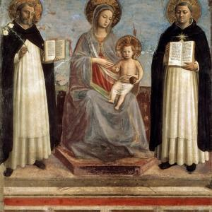 Virgin and Child with Saints Dominicus and Thomas Aquinas, 1424-1430 by Fra Angelico