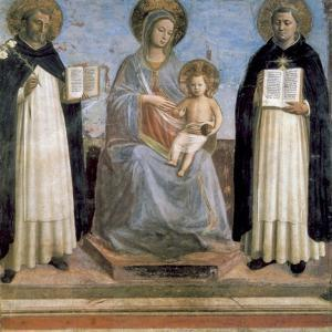 Virgin and Child with St Anthony of Padua and St Thomas Aquinas, Early 15th Century by Fra Angelico