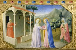 Visitation, from the Predella of the Annunciation Alterpiece by Fra Angelico