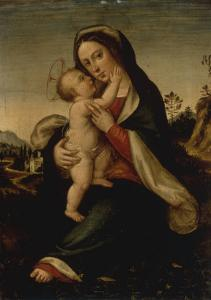 The Madonna and Child in a Landscape by Fra Bartolomeo