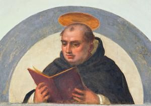 St. Thomas Aquinas Reading, circa 1510-11 by Fra Bartolommeo