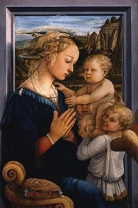 Madonna and Child with Two Angels, 1460S by Fra Filippo Lippi
