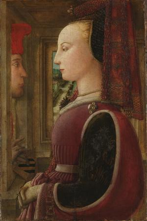 Portrait of a Woman with a Man at a Casement, c.1440
