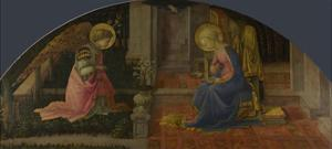 The Annunciation (Medici Pane), C. 1450 by Fra Filippo Lippi
