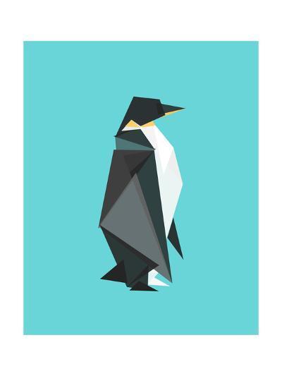 Fractal Geometric Emperor Penguin-Budi Kwan-Giclee Print