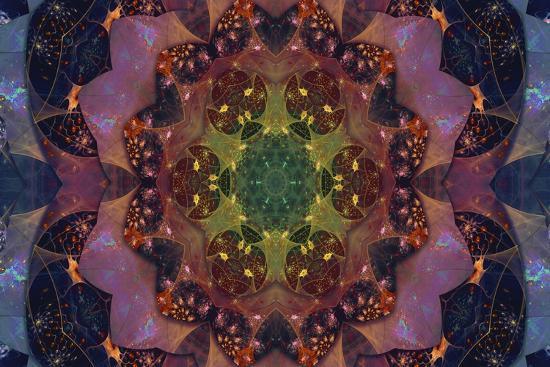 Fractal Mandala 1-Delyth Angharad-Giclee Print
