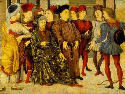 Fragment from a Cassone Panel 'Shooting at Father's Corpse', c.1462-Marco Zoppo-Giclee Print