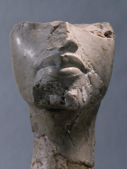 Fragment of a head, Ancient Egyptian, Amarna period, c1352-1336 BC-Werner Forman-Photographic Print