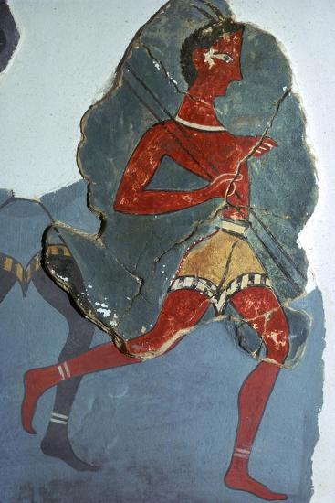 Fragment of a Minoan fresco known as the 'Captain of the Blacks', 15th century BC-Unknown-Giclee Print