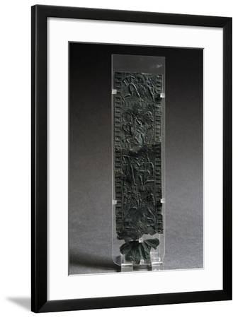Fragment of Bronze Armor with Reliefs Depicting Combat Scenes--Framed Giclee Print