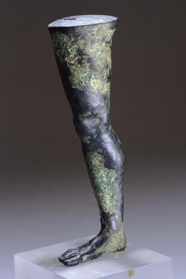 Fragment of Bronze Statue, Detail of Leg--Giclee Print