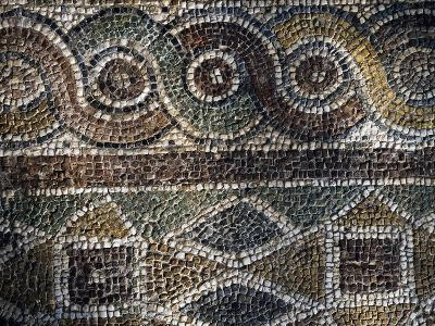 Fragment of Mosaic with Geometric Patterns Uncovered in Agora of Smyrna, Turkey--Giclee Print