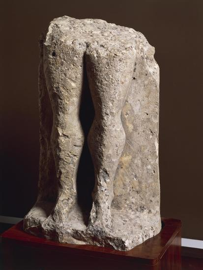 "Fragment of Stele-Statue known as ""Devil's Legs"", from Collelongo, Province of L'Aquila, Italy--Giclee Print"