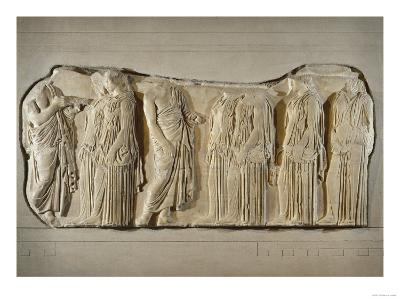 Fragment of the Frieze of the Panatheneans: The Ergastine--Giclee Print