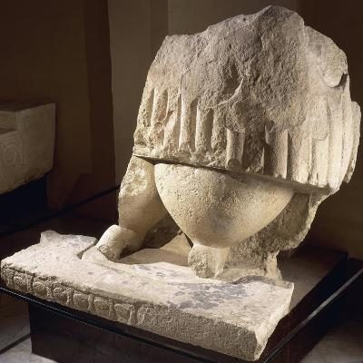 Fragment of the Great Statue of the Mother Goddess, from the Tarxien Temples--Giclee Print