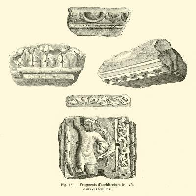 Fragments D'Architecture Trouves Dans Ces Fouilles--Giclee Print