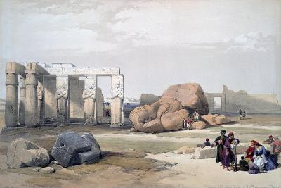 Fragments of the Great Colossi, at the Memnonium, 19th Century-David Roberts-Giclee Print